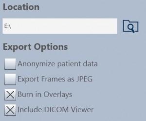 Export Options CD