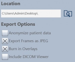 Export Options Jpeg