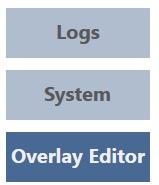 menu overlay editor